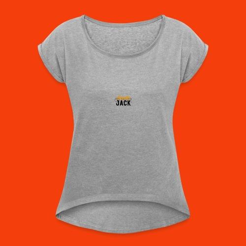 monster jack logo - Women's Roll Cuff T-Shirt