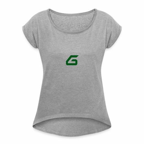 The New Era M/V Sweatshirt Logo - Green - Women's Roll Cuff T-Shirt