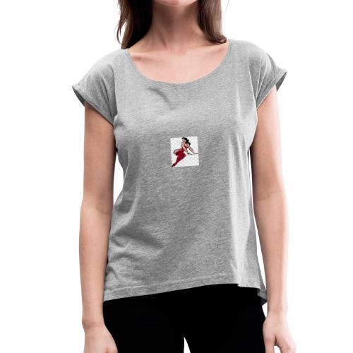 girl - Women's Roll Cuff T-Shirt
