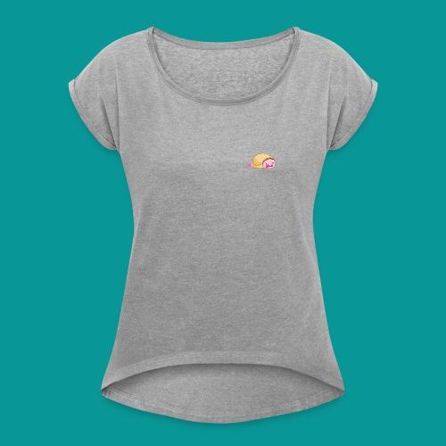 (Kids AND Adults) Blobfish Burrito - Women's Roll Cuff T-Shirt