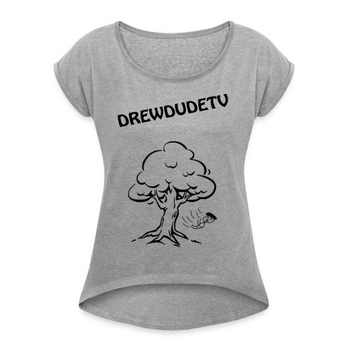 BOY FALLS FROM TREE - Women's Roll Cuff T-Shirt