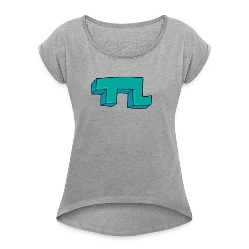 Official TL Logo - Women's Roll Cuff T-Shirt