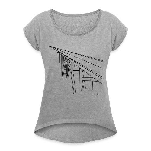 Bridge Vector - Women's Roll Cuff T-Shirt