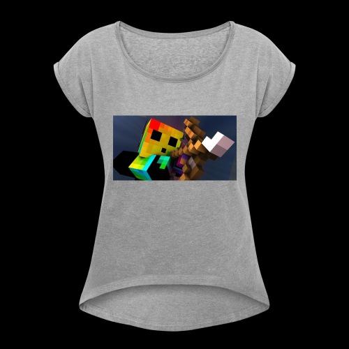 MathWolfGaming - Women's Roll Cuff T-Shirt