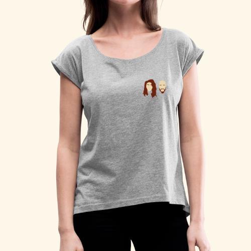 Filmed By Us Logo - Women's Roll Cuff T-Shirt