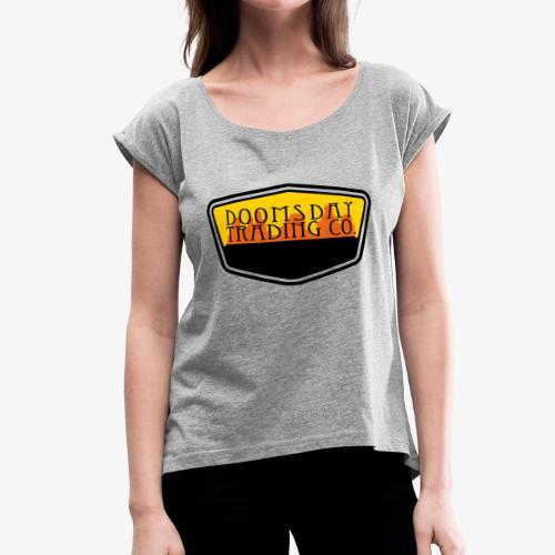 desert patch - Women's Roll Cuff T-Shirt