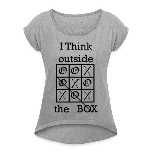 Tic Tac Toe - Women's Roll Cuff T-Shirt