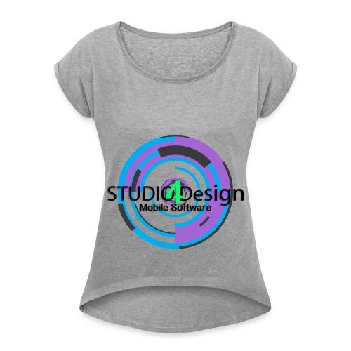 S4DLogo - Women's Roll Cuff T-Shirt