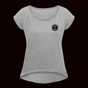 Official DKSB LOGO - Women's Roll Cuff T-Shirt