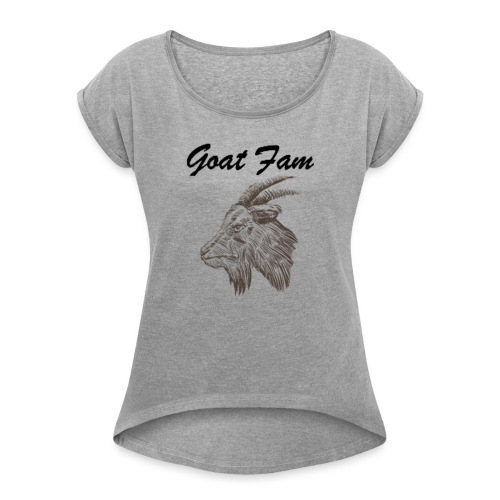 Goat Fam - Women's Roll Cuff T-Shirt
