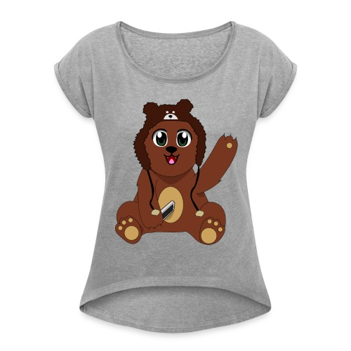 Nathan Piland Bear - Women's Roll Cuff T-Shirt