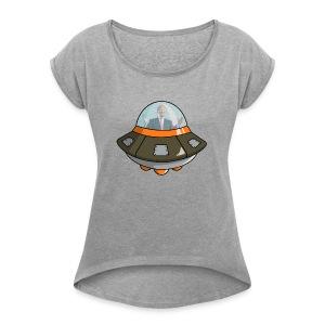 UFOTRUMP - Women's Roll Cuff T-Shirt