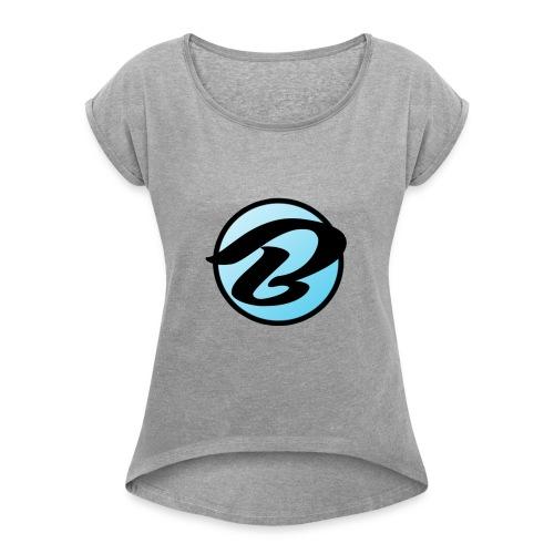 Bruiser Logo - Women's Roll Cuff T-Shirt