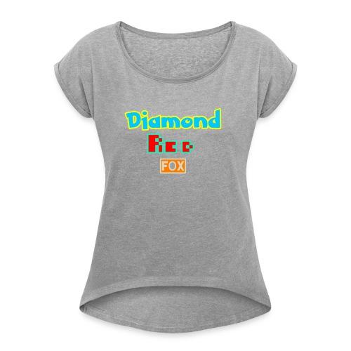 Diamond red fox official - Women's Roll Cuff T-Shirt