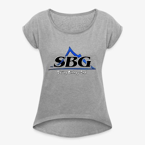 Skiing Biology God - Women's Roll Cuff T-Shirt