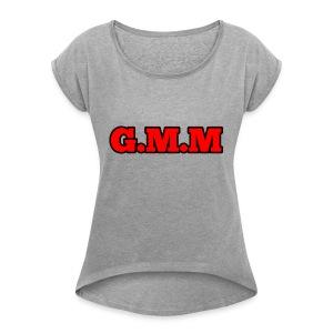 GOD MONEY MUSIC - Women's Roll Cuff T-Shirt