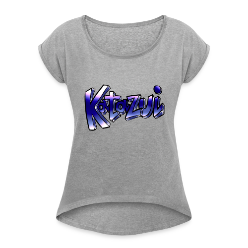 Katazui Header Logo - Women's Roll Cuff T-Shirt