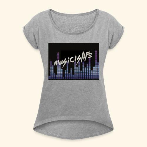860AF9AC 8366 431C B846 C617A9968B99 - Women's Roll Cuff T-Shirt