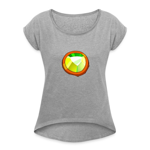 Life Crystal - Women's Roll Cuff T-Shirt