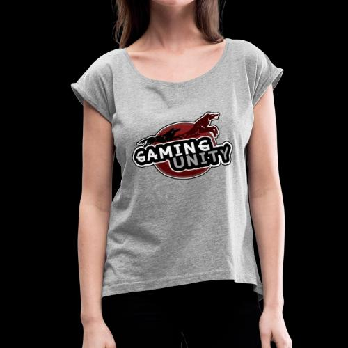 Gaming Unity Logo - Women's Roll Cuff T-Shirt