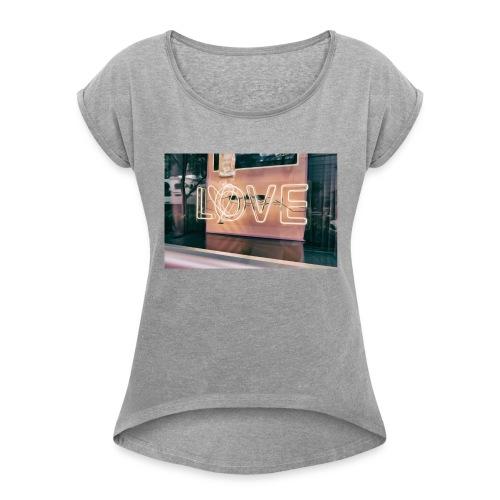close up design futuristic 722245 1524033427165 - Women's Roll Cuff T-Shirt