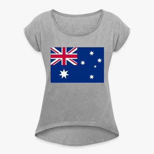 Bradys Auzzie prints - Women's Roll Cuff T-Shirt