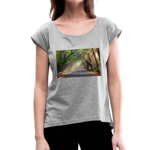 Summer ride - Women's Roll Cuff T-Shirt