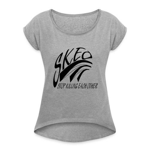 SKEO - Black - Women's Roll Cuff T-Shirt