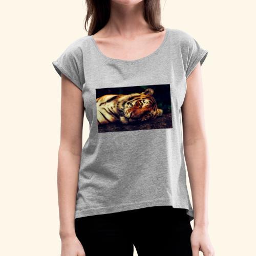 tiger 2530158 1920 - Women's Roll Cuff T-Shirt