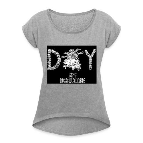 DIY RPG Productions Demon Metal - Women's Roll Cuff T-Shirt