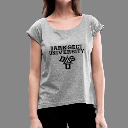 DARKSECT UNIVERSITY - Women's Roll Cuff T-Shirt