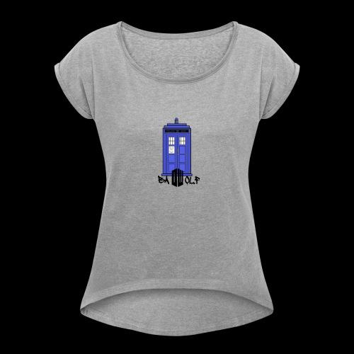 TARDIS - Women's Roll Cuff T-Shirt