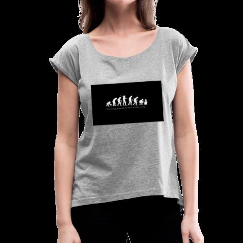 Gamer evolution - Women's Roll Cuff T-Shirt