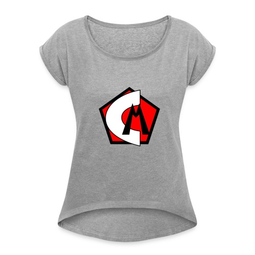 Captain Marvelous Logo - Women's Roll Cuff T-Shirt