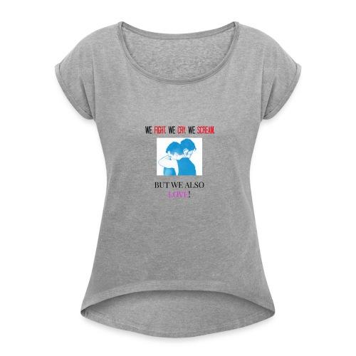 IAN & MICKEY - Women's Roll Cuff T-Shirt
