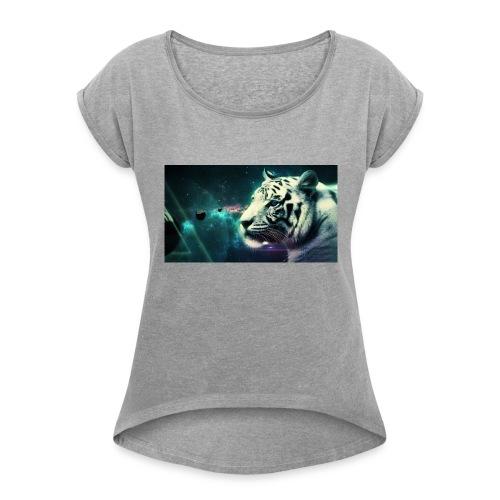 White_tiger - Women's Roll Cuff T-Shirt