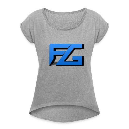 Freeze Gaming Logo - Women's Roll Cuff T-Shirt