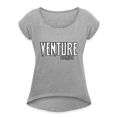 Venture Comics Logo - Women's Roll Cuff T-Shirt