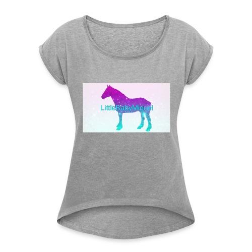 LittleBabyMiguel Products - Women's Roll Cuff T-Shirt
