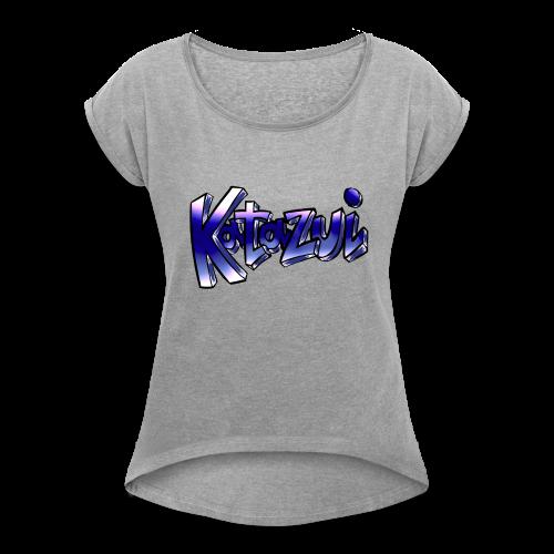 Katazui Header Logo - Women's Roll Cuff T-Shirt