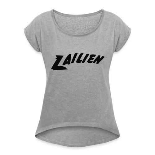 LOGOTEXT_A_Lailien - Women's Roll Cuff T-Shirt