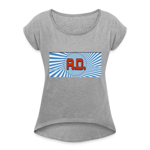 1528659640444 - Women's Roll Cuff T-Shirt