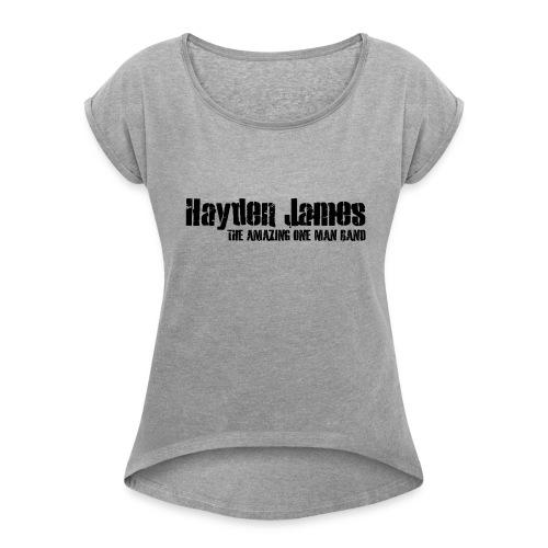 HJ Trans Logo Black 2018 - Women's Roll Cuff T-Shirt