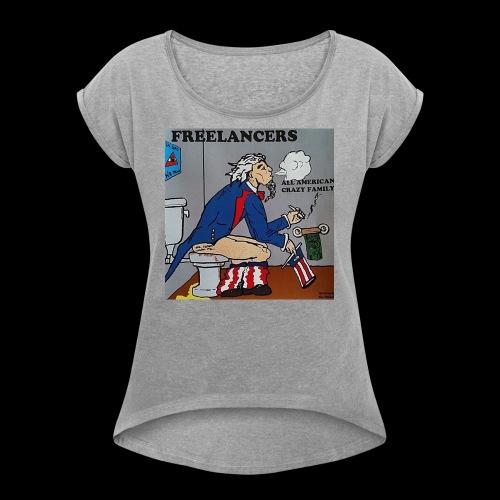 AACF logo - Women's Roll Cuff T-Shirt