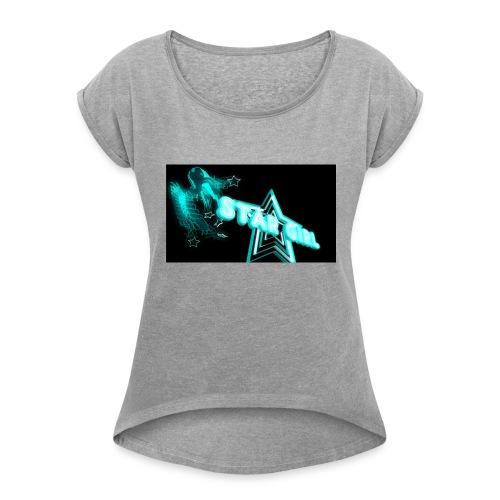 STAR GIRL Baby Blue - Women's Roll Cuff T-Shirt
