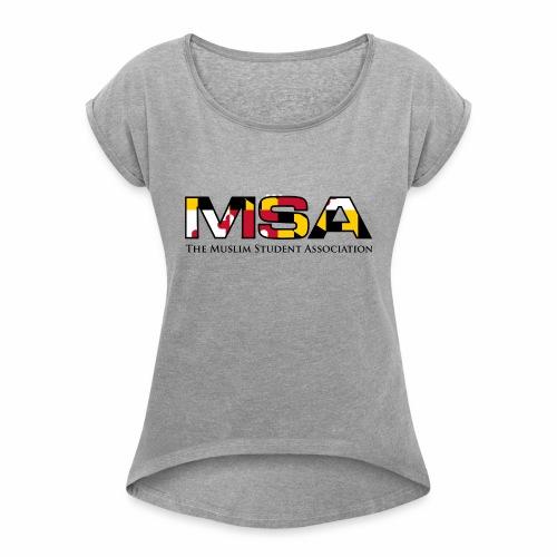 Maryland Flag MSA Logo - Women's Roll Cuff T-Shirt