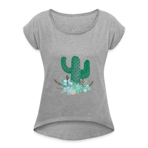 cactus partyII - Women's Roll Cuff T-Shirt