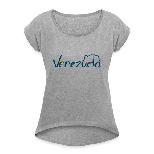 logo VZLA - Women's Roll Cuff T-Shirt