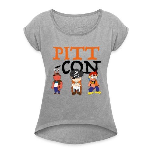 PittCon 2017 Pirate Squad Logo - Women's Roll Cuff T-Shirt