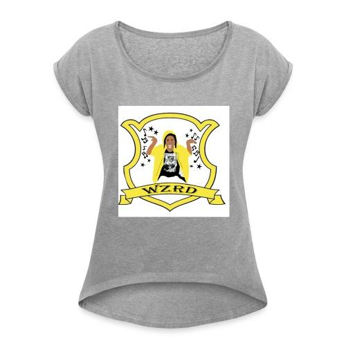 WZRD choo Hogwart - Women's Roll Cuff T-Shirt